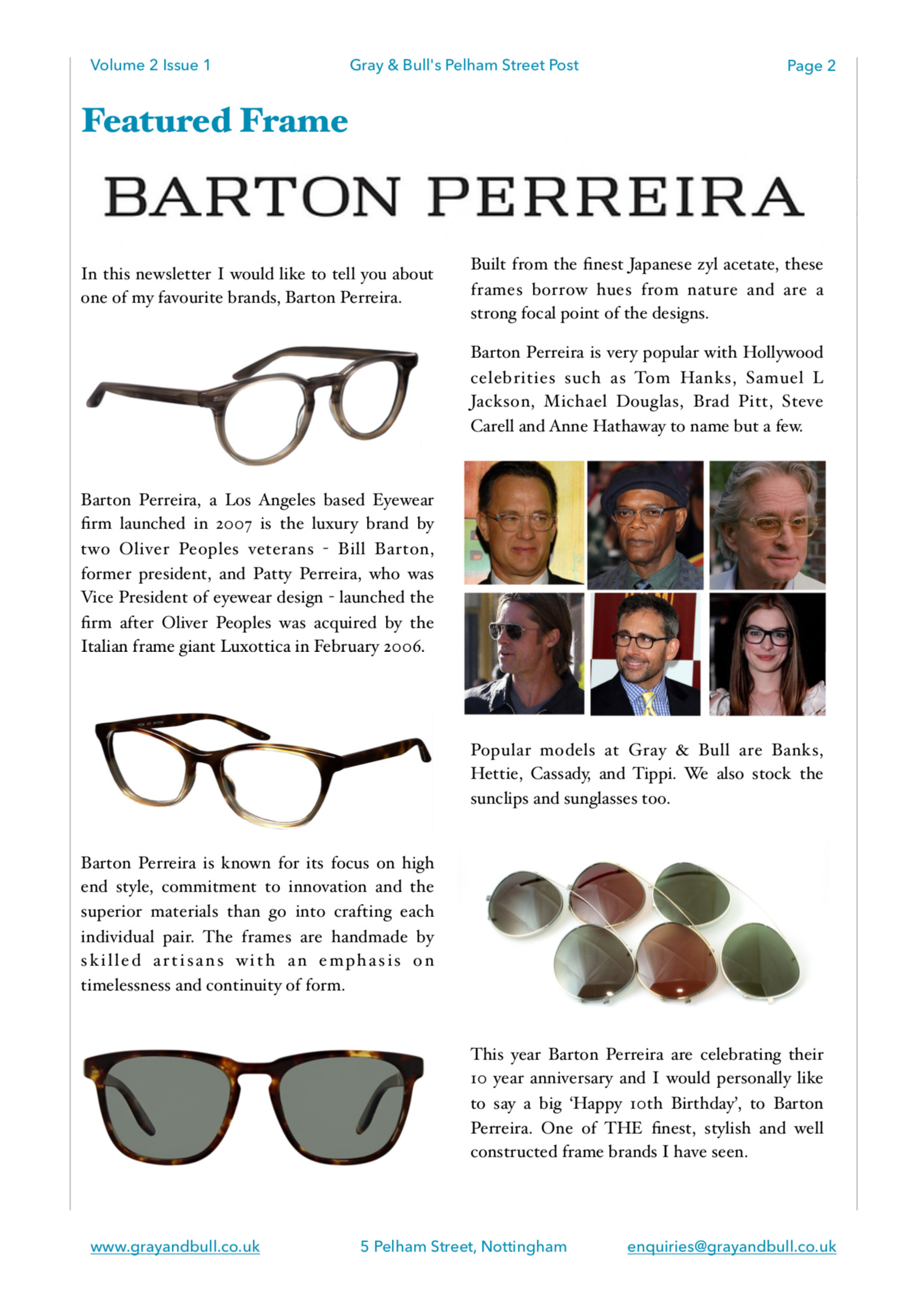 Barton Perreira Featured Frame Pelham Street Post
