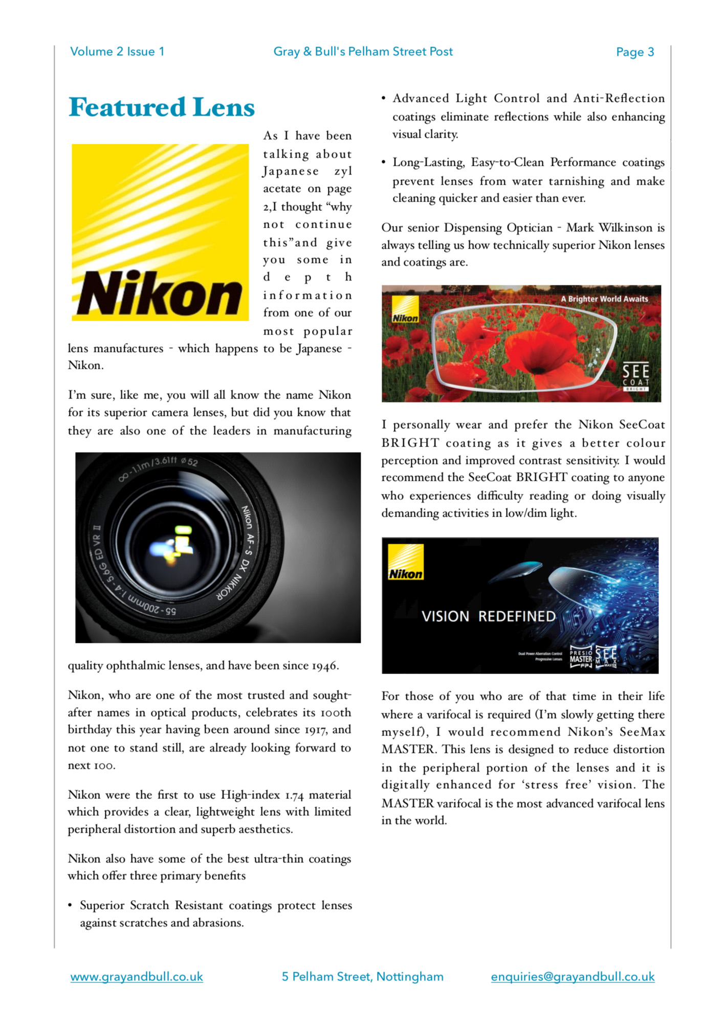 Nikon Lenswear Featured Lens Pelham Street Post